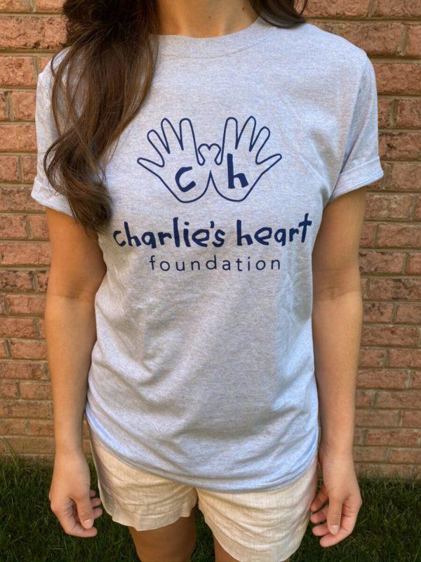 Charlies Heart Spread Light Blue Adult T-Shirt