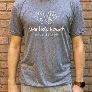 Charlies Heart Gray Adult T-Shirt