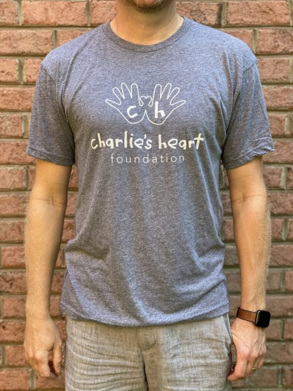 Charlies Heart Gray Adult T-Shirt