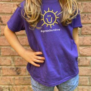 Charlie's Heart Children's Purple T-Shirt
