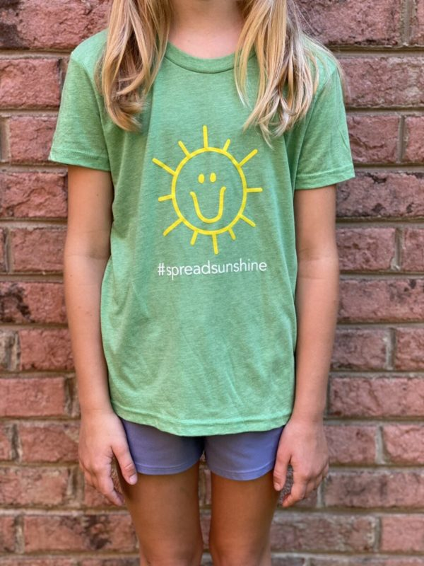 Charlies Heart Spread Sunshine Green Youth T-Shirt