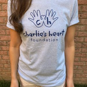 Charlies Heart Spread Light Blue Adult T-Shirt