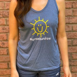 Charlies Heart Spread Sunshine Blue Tank