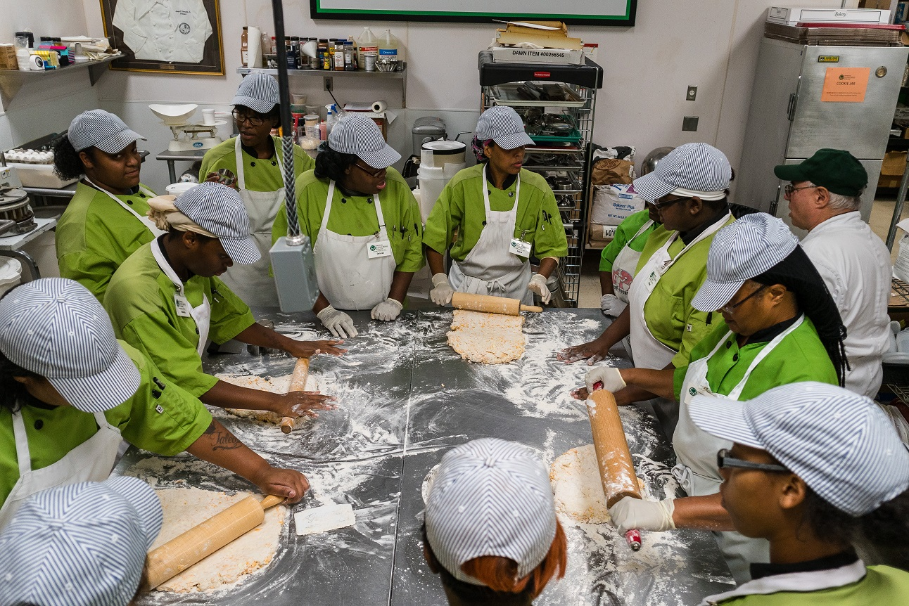 students at Community Culinary School of Charlotte